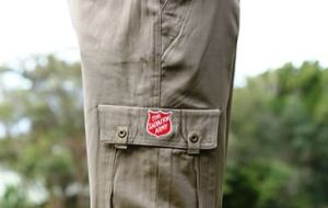 Cargo Pants With Red Shield